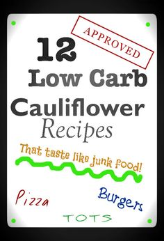A Dozen Low Carb Cauliflower Recipes  The cauliflower garlic bread is great!! It takes a while to process the cauliflower fine enough to use but is worth it!!