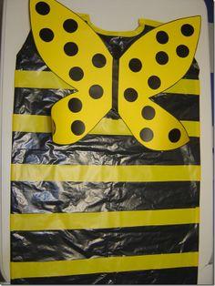 abella abeja con bolsa amarilla o negra | http://www.multipapel.com/familia-material-para-disfraces-maquillaje-bolsas-de-color.htm