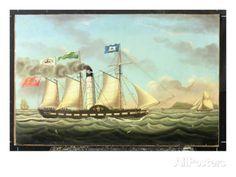 The Steam Packet 'saint Patrick' on the Liverpool to Dublin Run, 1827 reproduction procédé giclée par Miles Walters sur AllPosters.fr