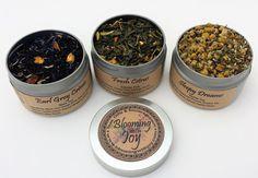 3 Tin Loose Leaf Tea Gift Set
