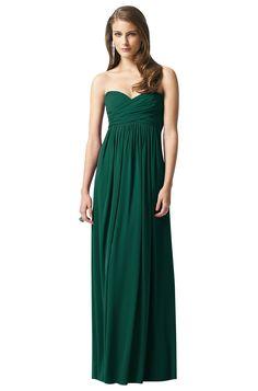 Dessy 2846 Sample Sale Bridesmaid Dress in Emerald Green in Chiffon