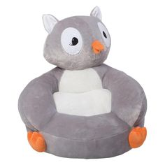 The Trend Lab Children's Plush Owl Character Chair brings delightful whimsy to your little one's world and to any room of the house. The Owl chair is a cuddly . Toddler Lounge Chair, Kids Playroom Furniture, Owl Head, Owl Kids, Play Kitchen Sets, Nursery Accessories, Kids Bookcase, Grey Chair, Plush Animals