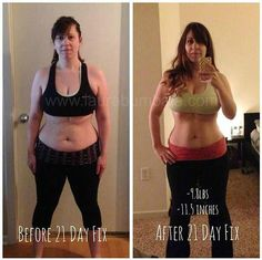 21 Day Fix Results. Lost over 9lbs and 11 inches with the 21 day fix program!