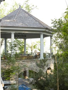 When I strike it rich (ha!) this elevated gazebo will definitely be attached to my home!