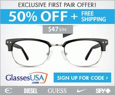 Tri Cities On A Dime: GLASSES - EXCLUSIVE FIRST PAIR OFFER! - 50% OFF PL...