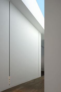 white Nuit LED profile recessed mounted in the wall