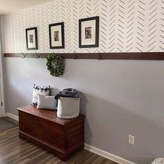 Sharpie Wall, Herringbone Wall, Home Upgrades, Diy Wall, Wall Art, Diy Home Decor Projects, Home Remodeling, Decoration, Stencil Diy