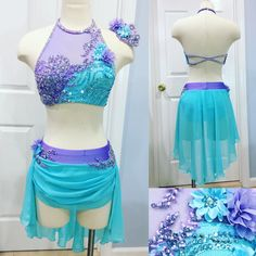 This beauty is for Abby of Upstage Dance Center! In love with the colors!! #amparocostumes #customd...