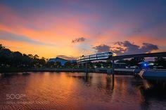 Sunset Monorail by psaizan
