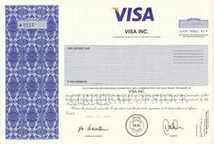 VISA Stock Certificate