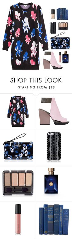 """""""80"""" by heba-j ❤ liked on Polyvore featuring Kenzo, 3.1 Phillip Lim, Kate Spade, Savannah Hayes, Versace, Bare Escentuals and NARS Cosmetics"""