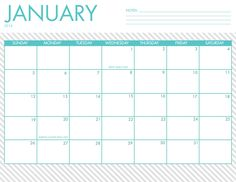 Free printable 2014 calendars are here! 5 designs to choose from.