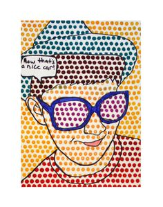 Lichtenstein  inspired portraits (there are several examples)