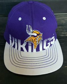 Reebok On Field Minnesota Vikings YOUTH Size Flexfit Fitted Hat NFL Vikings Cap #Reebok #MinnesotaVikings