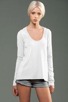 eco-HYBRID™ Jersey Long Sleeve U-Neck Hoodie - Choose Beauty Without Cruelty