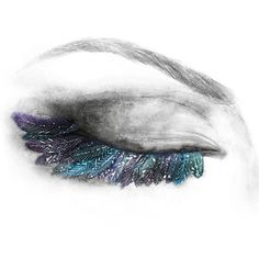 Feather eye drawing