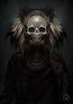 aztec theme demon speedpaint 2 by kostya p ngwin chernianu Digital Art Masters: Volume 6 Demons 2, Angels And Demons, Alien Skull, Skull Art, Star Citizen, Arte Horror, Horror Art, Behind Blue Eyes, Arte Robot