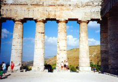 Emily, Maia and I at the temple of Segesta