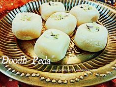 Instant Doodh Peda ( Milk Fudge )  As far as my memory goes, I have loved pedas. They are so sweet and fudgy. Perfect to start or end any meal..celebrate any occasion  And since I love them so much, I make them often at home for some sweet cravings or for poojas. They always turn delicious and perfect! The instant way! I mean I do love pedas but do not wish to spend a long time reducing milk and stirring for hours!  Dhody pedas