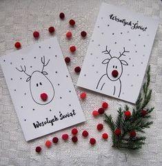 Karten :) #DIY #Rentiere #Rentier #swieta #Weihnachten #Karte #rote Nase #kinder #Rentier