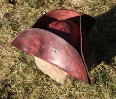 Pirate tricorn leather hat. $110.00, via Etsy.