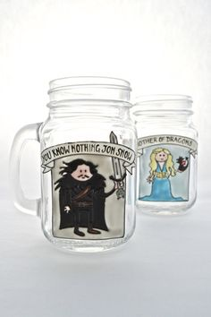 Toasted Glass - Game of Thrones drinking jars
