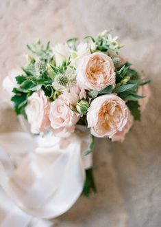 Garden Roses Bouquet - Wedding Colours, Wedding Themes, Wedding colour palettes
