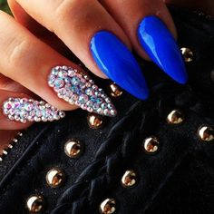 Sparkle Blue Nail Design
