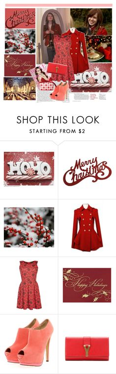 """Christmas with Massie Block(Elizabeth Mclaughlin)"" by i-flowergirl ❤ liked on Polyvore featuring Apricot, Boohoo, Yves Saint Laurent and Clinique"