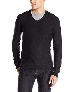 Calvin Klein Jeans Men's Slub V-Neck…