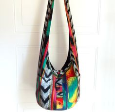 Buttonup Shirt Hobo Bag Sling Bag Stripes Chevron by 2LeftHandz, $33.50