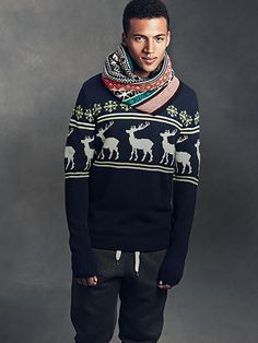 Men's Winter Style Inspiration- Cozy Sweater and Scarf #mens #fashion #winter #sweater
