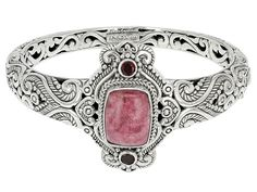 Artisan Gem Collection Of Bali(Tm) Thulite And Red Garnet Silve Bali Jewelry, Gemstone Jewelry, Jewelry Bracelets, Bangles, Red Garnet, Heart Ring, Brooch, Gemstones, Earrings