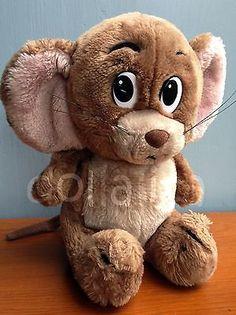 Vintage 1985 MGM Presents TOM & Jerry Mouse Plush Stuffed Animal Rare