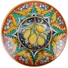 Piatto decorato Caltagirone