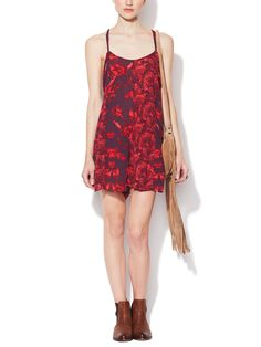 Mixed Print Trapeze Romper by Free People