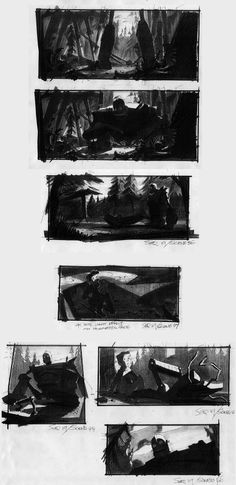 "iron giant storyboard!!! ""Total sucker for this movie. Retro, cool, and excellent direction and animation."" KB"