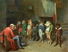 """School Rules"" - c.1887 ~ William Holbrook Beard, American artist  (1825-1900). Another favorite of mine. It reminds me of ""Franklin"" (the turtle)."