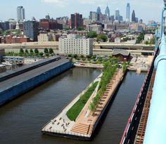 Carpenter: Decks Exteriores en Remodelación del Race Street Prier Park, Philadelphia
