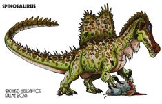 Spinosaurus by Herschel-Hoffmeyer on DeviantArt Jurassic World Dinosaurs, Jurassic Park World, Cartoon Dinosaur, Dinosaur Art, Dinosaur Tattoos, Fantasy Drawings, The Lost World, Spinosaurus, Weird Creatures