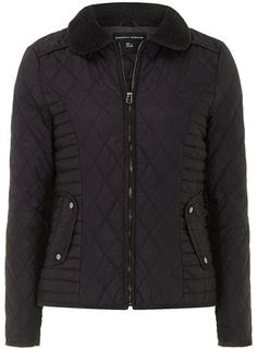 Navy collar quilted jacket - Jackets & Coats  - Clothing