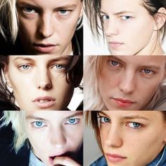 """humbleacorns: """"Eyes to kill """" - Modern Androgynous Models, Androgynous Fashion, Tomboy Fashion, Queer Fashion, Erika Linder, Short Hair Tomboy, Below Her Mouth, Tomboy Look, Tomboy Style"""