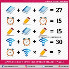 Solve the Book, Clock, Pencil, WiFi Picture Puzzle Logic | Test 4 Exams Brain Teasers Pictures, Aptitude And Reasoning, Book Clock, Play Quiz, Brain Teaser Puzzles, Logic Puzzles, Picture Puzzles, Problem Solving Skills, Riddles