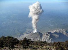 Volcán Santa María, ubicado en Quetzaltenango, Guatemala.