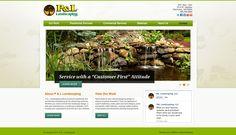 P & L Landscaping #MESH_LiveBuild #landscaping #LandscapeDesign #LawnCare #website