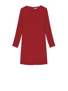 CREPE DRESS WITH SIDE PLEATS