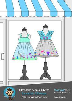 PATTERN Design Your Own Grace Dress  PDF by boodesignsaustralia,