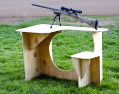 Portable Shooting Bench Plans - The Best Image Search Portable Shooting Bench, Shooting Bench Plans, Shooting Table, Shooting Rest, Shooting Targets, Shooting Guns, Shooting Stand, Shooting Sports, Outdoor Projects