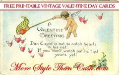 Free Printable Vintage Valentine Day Cards