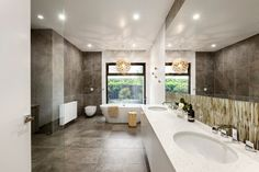 Interior aspect of the Marsh House in Lerderderg, Victoria, Australia by LSA Architects Contemporary Bathroom Designs, Modern Bathroom, Bathroom Ideas, Bathroom Photos, Design Bathroom, Dream Bathrooms, Amazing Bathrooms, Luxury Bathrooms, Decoration Entree